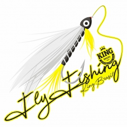 adesivo fly fishing 10 x 10cm a1119